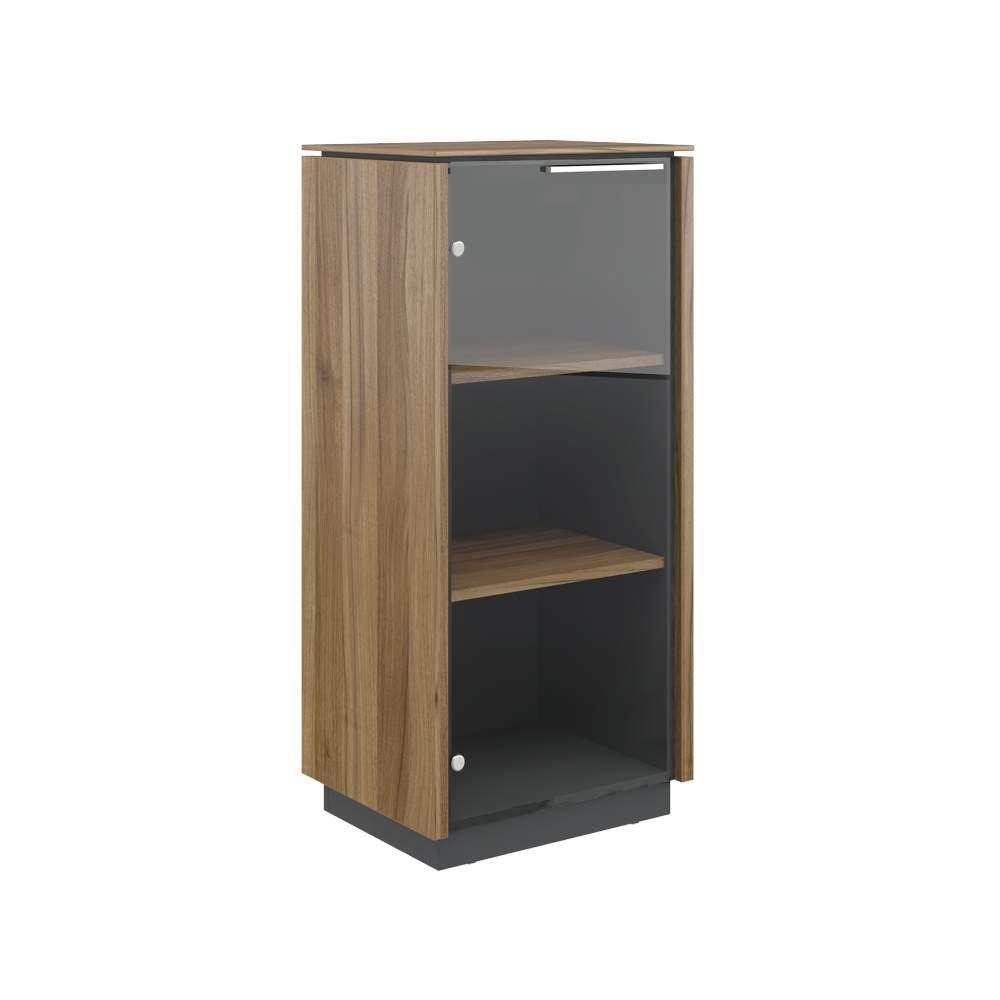 Шкаф однодверный средний стекло левый  540x420x1170