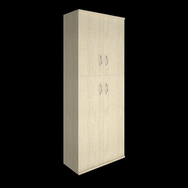 Шкаф высокий с 4мя дверцами 770x365x1975