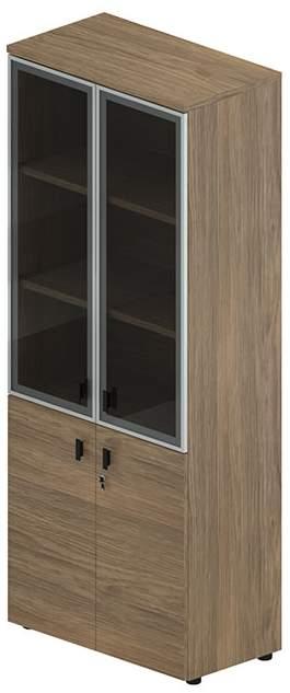 Шкаф комбинированный со стеклянной дверью 800x440x1980