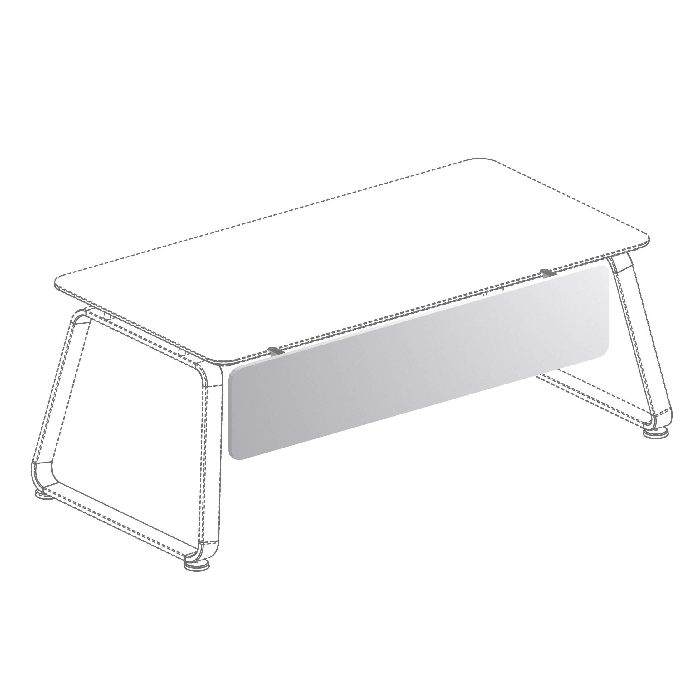 Фронтальная панель к столу на опорной тумбе 1443x18x300