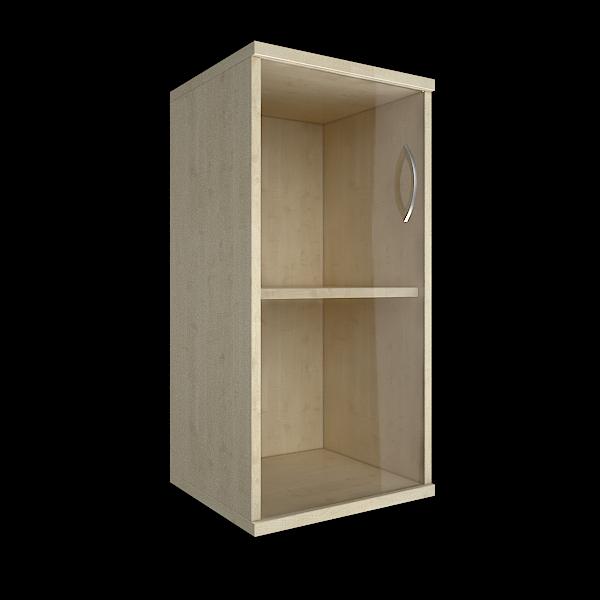 Шкаф низкий узкий левый со стеклом 403x365x823