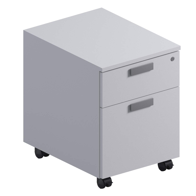 Мобильная тумба с файловым ящиком (ящики - металл)  421x552x573