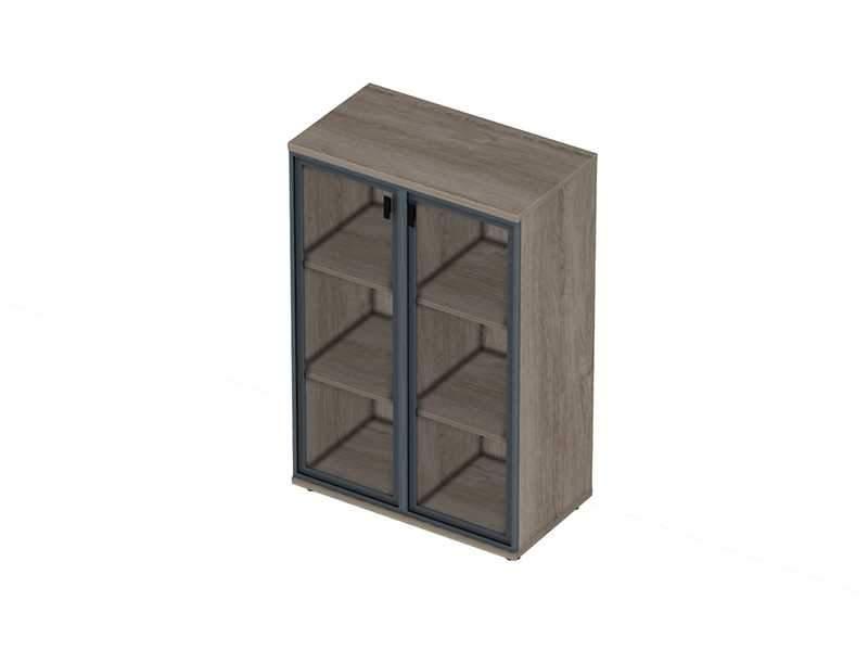 Шкаф со стеклянными дверьми 800x440x1210