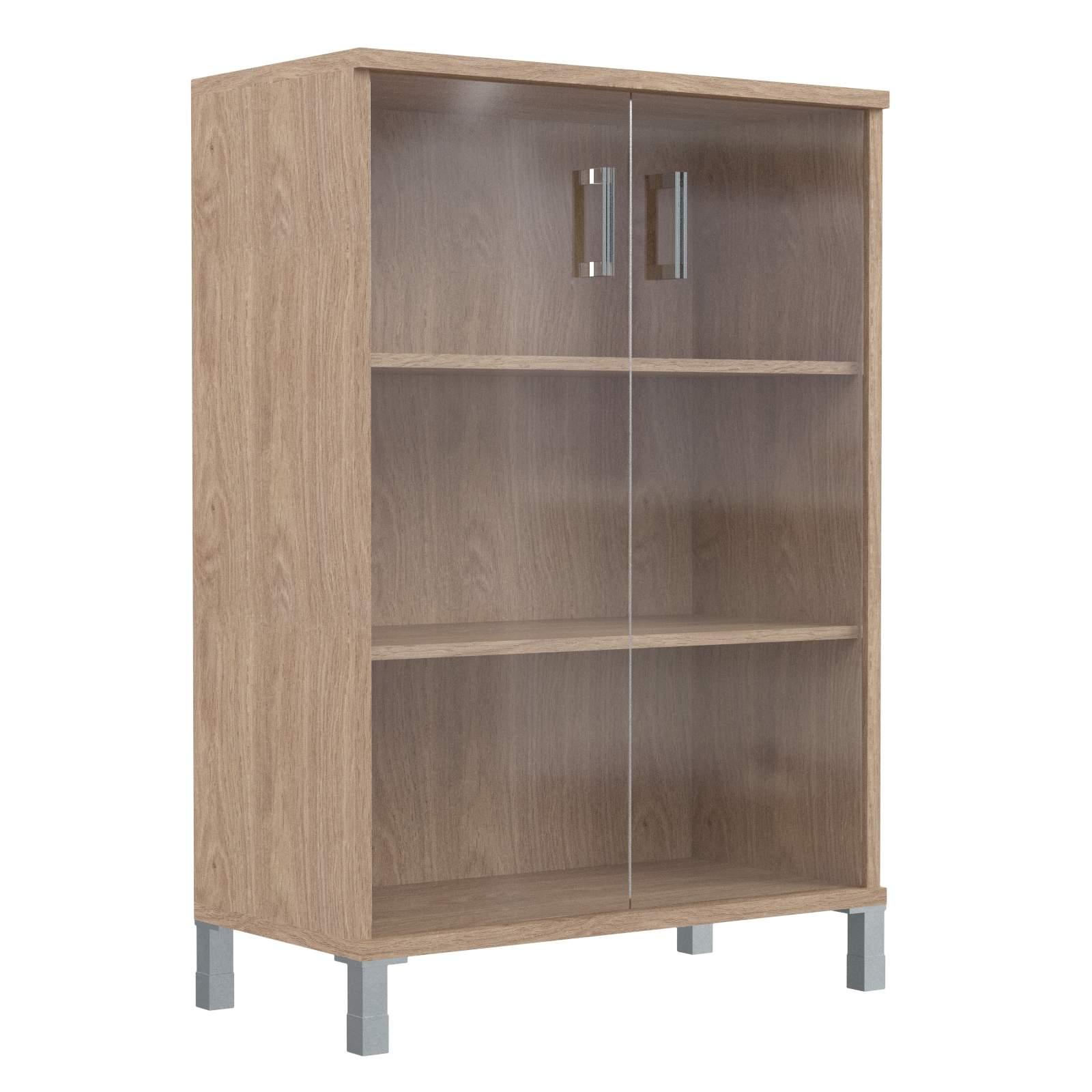 Шкаф средний со стеклянными дверьми 900х435х1236
