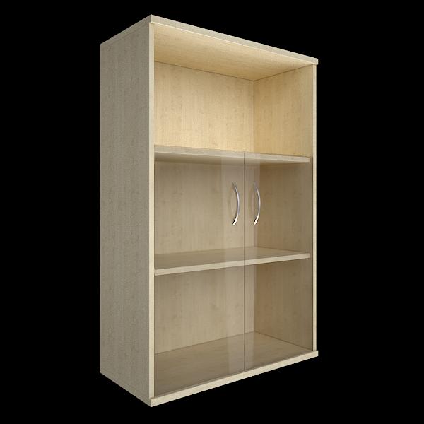 Шкаф средний полуоткрытый со стеклом 770x365x1200
