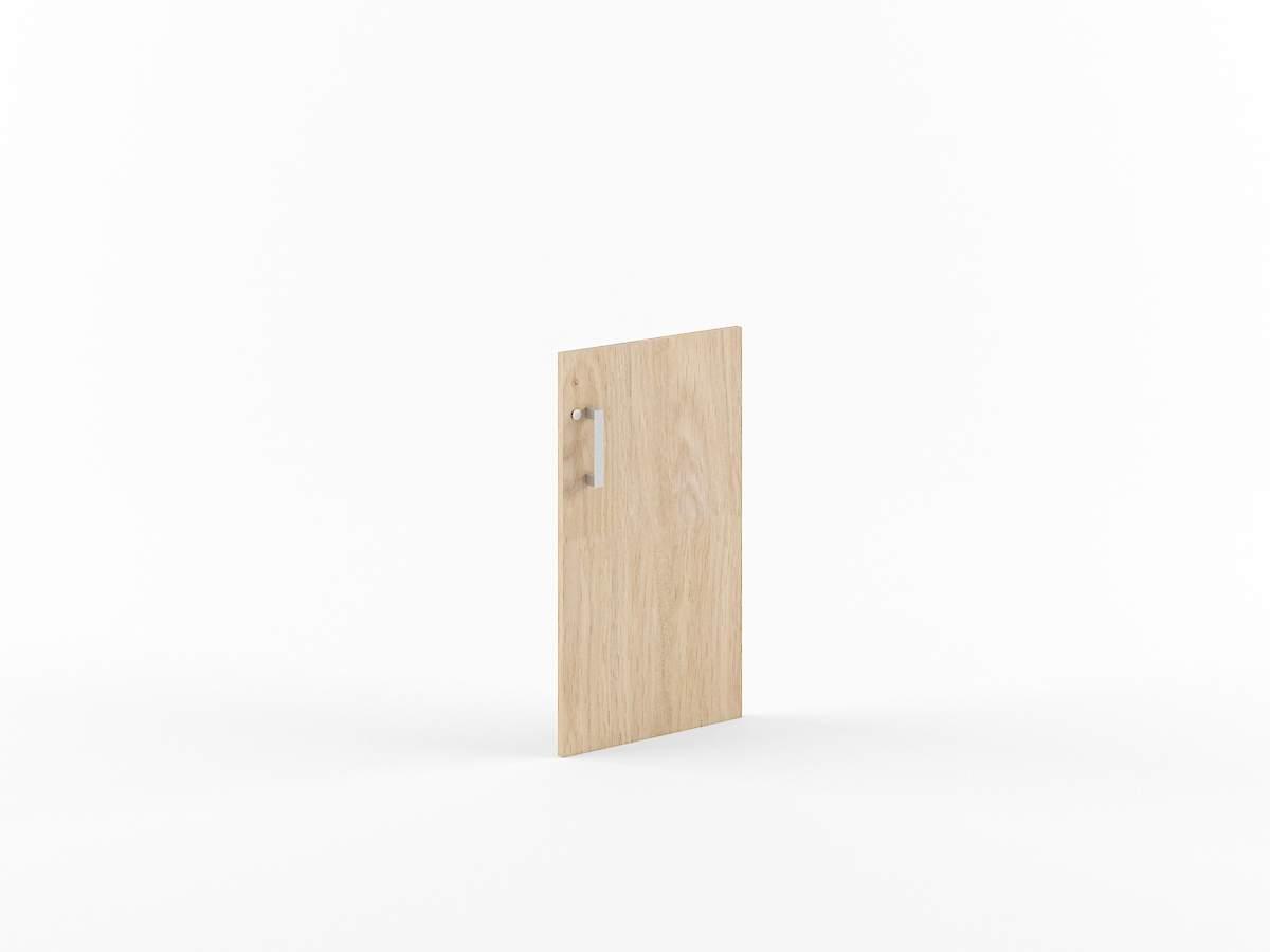 Дверь ЛДСП низкая с замком 422x18x765