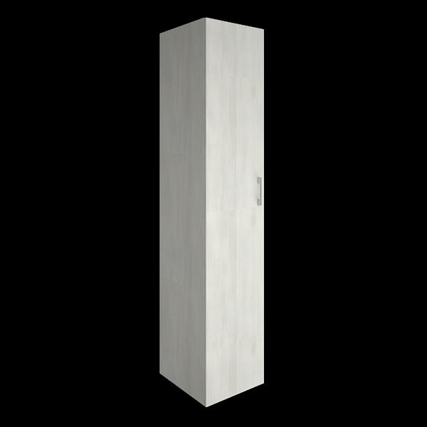 Шкаф высокий узкий закрытый 1 дверь  400x450x1990
