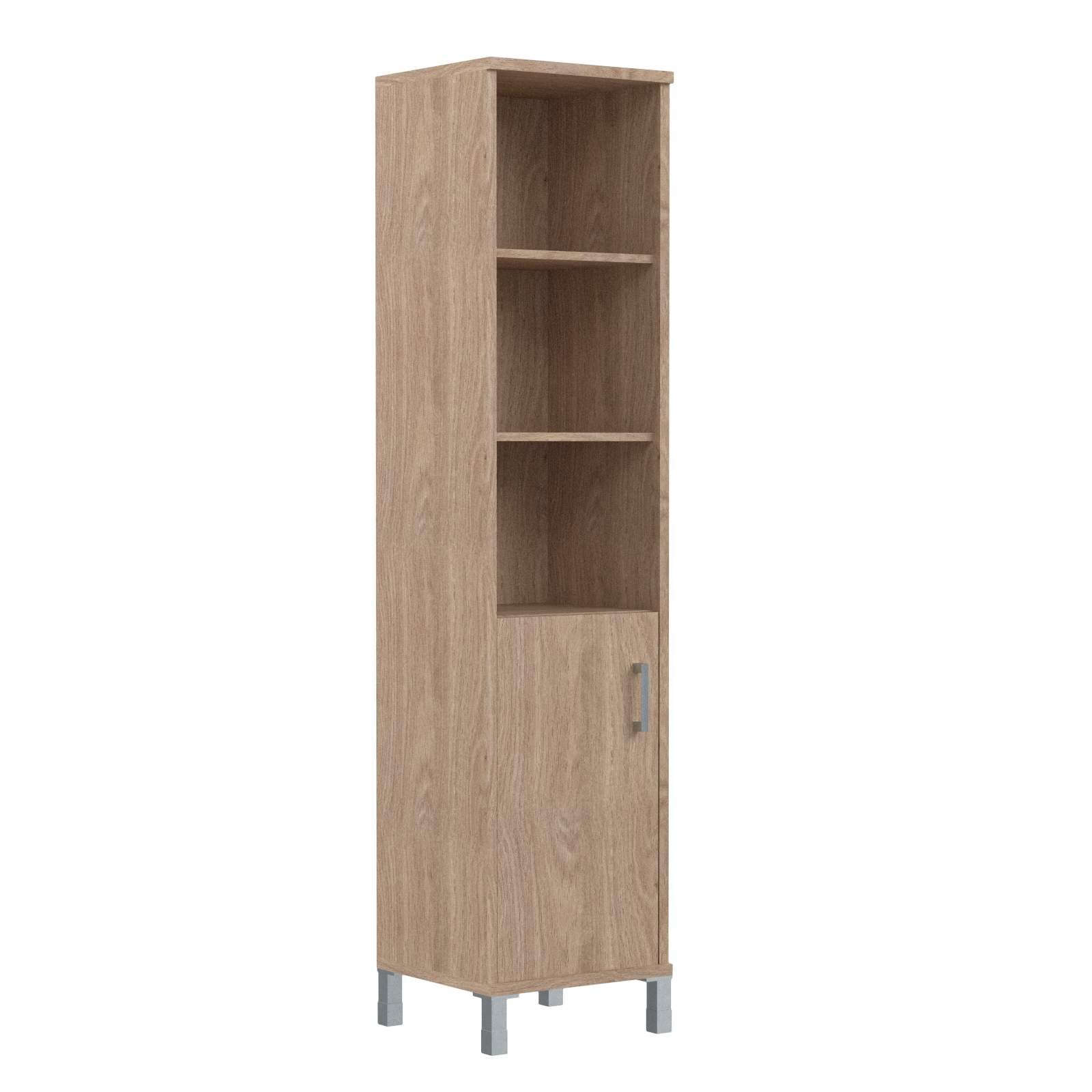 Шкаф колонка высокая с глухой малой дверью левая 475х435х2004