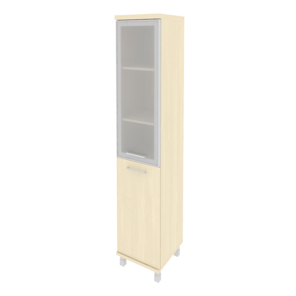 Шкаф высокий узкий правый со стеклом в раме 401x432x2060