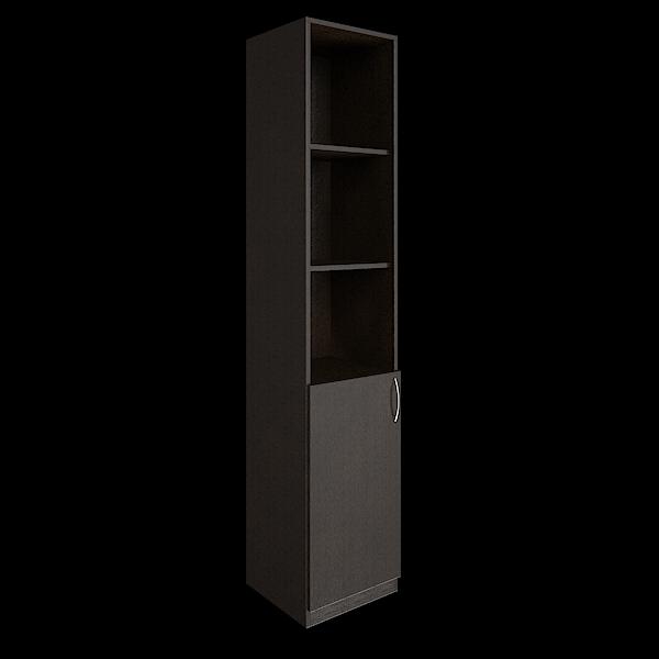 Шкаф высокий узкий левый комбинированный 388x359x1914