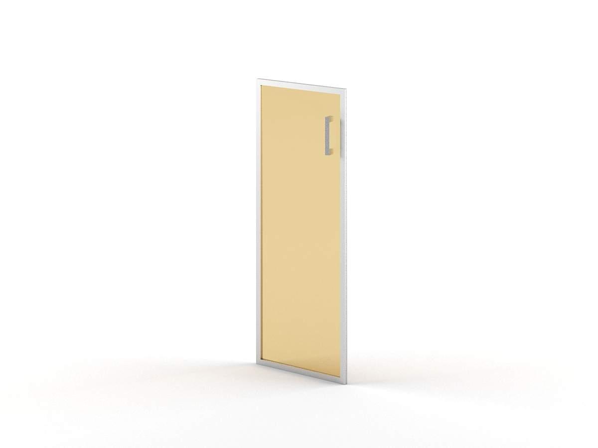 Дверь стеклянная средняя левая в раме 420x22x1132