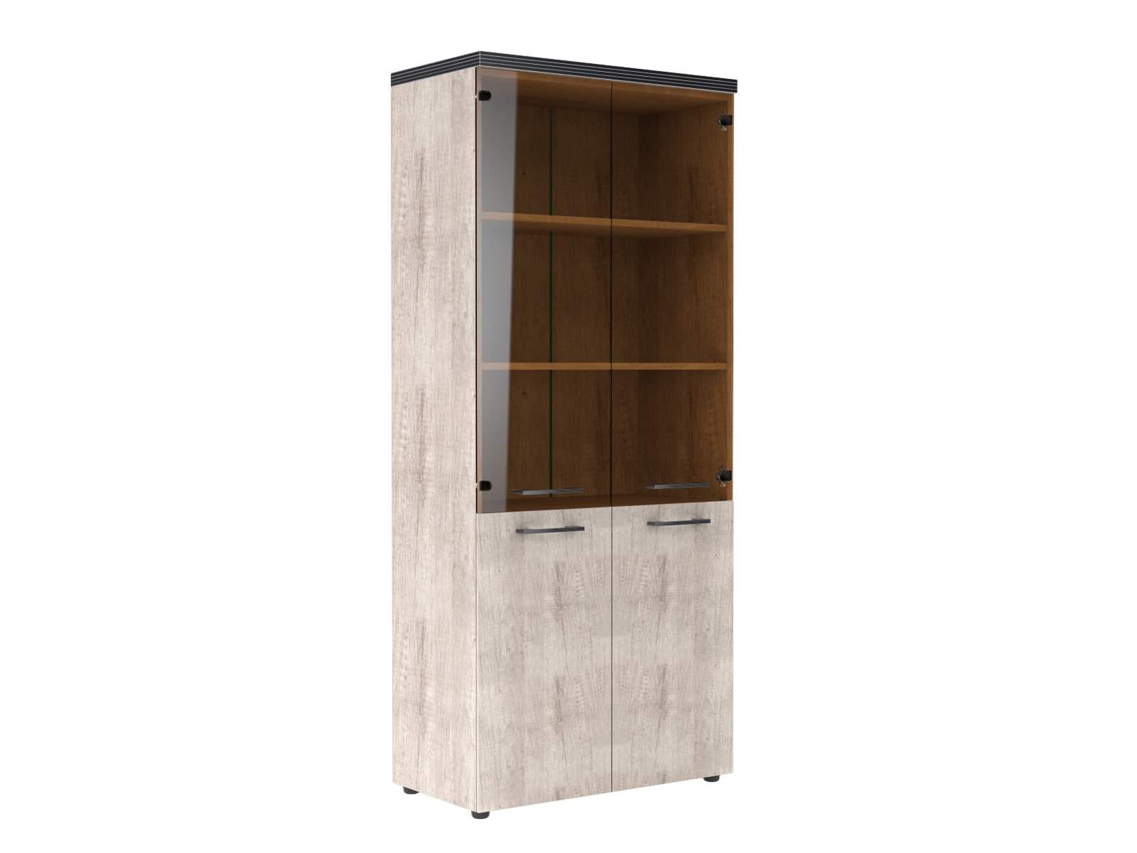 Шкаф комбинированный со стеклом 850x430x1930