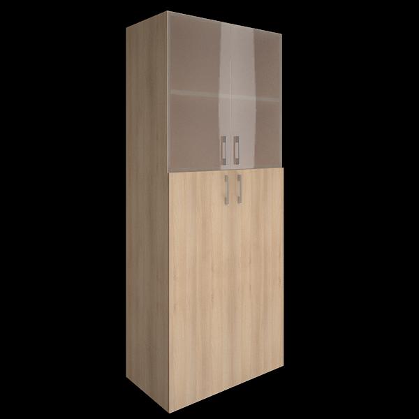 Шкаф высокий комбинированный со стеклом   800x450x1990