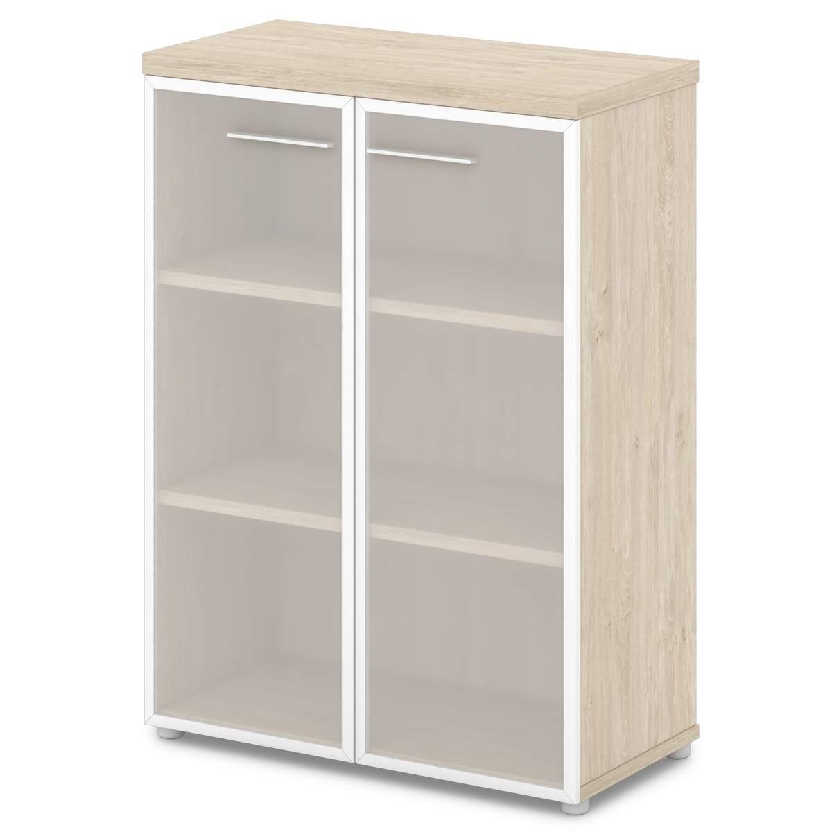Шкаф средний со стеклом 880x442x1218
