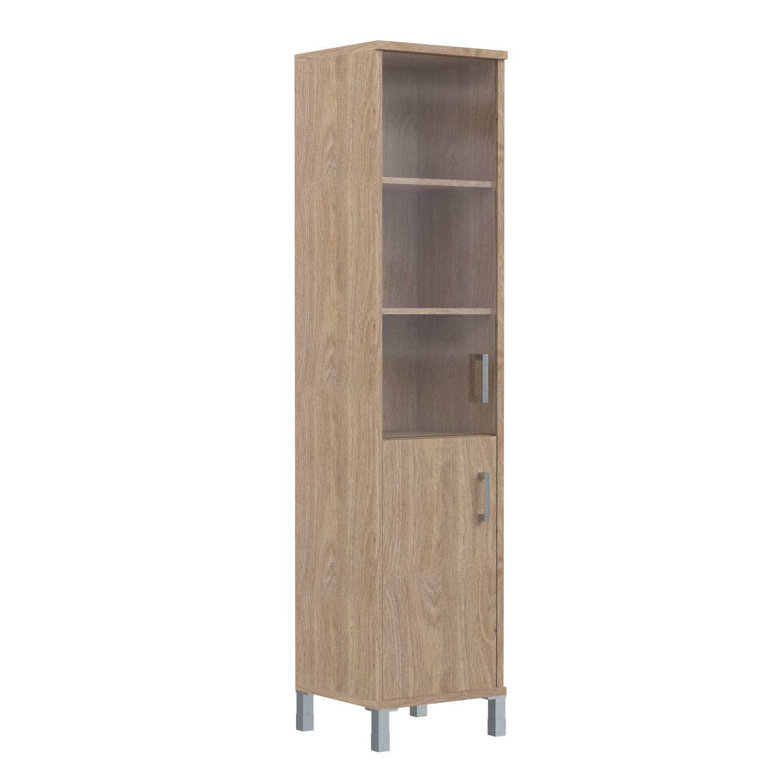 Шкаф колонка комбинированная со стеклом левая 475х435х2004