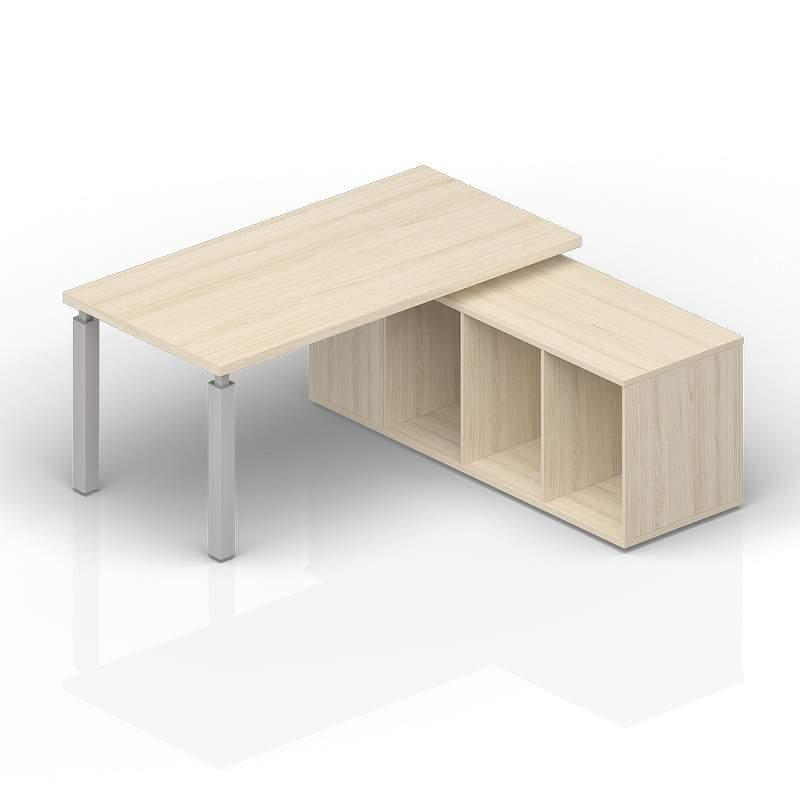 Стол на опорной сервисной тумбе (правый) 1800(+0/150/300)х1800х735см