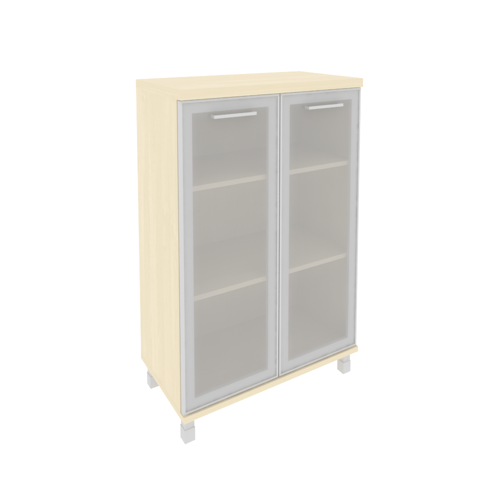Шкаф средний широкий со стеклом в раме 801x432x1260